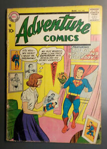 Adventure Comics #246 ! DC 1958 ! SUPERBOY ! AQUAMAN ! GREEN ARROW ! hayfamzone