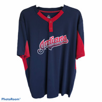 Cleveland Indians Baseball Jersey 2XL Majestic Coolbase MLB Dark Blue Red White