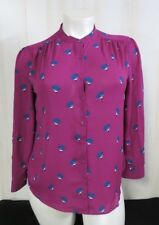 Top Blouse Women Sz XXL (20) FADED GLORY Long Sleeve Sheer Floral Soft Shirt NWT