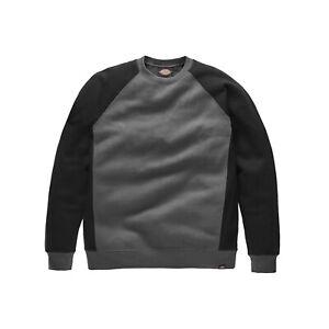 Dickies Two Tone Sweatshirt Grey & Black (Small) Mens Work Jumper