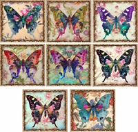 Coloured Butterfly Glossy Finish Card Topper - Crafts Embellishment
