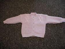 "HAND Knitted Cardigan Ragazze per adattarsi 24"" petto (CANDY Twist)"