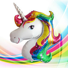 2PC Large Rainbow Unicorn Foil Helium Balloon Children Birthday Party Decoration