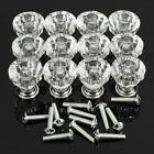 12 Crystal Glass Door knob Handle Cabinet Pull Cupboard Drawer Knob Handle CL&D