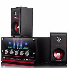 DURHERM LED Equalizer 2.1 Channel MP3 Woofer Speaker System w/ Remote USB SD FM