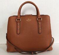 New Kate Spade Evangelie Larchmont Avenue Pebble Leather Warm Cognac