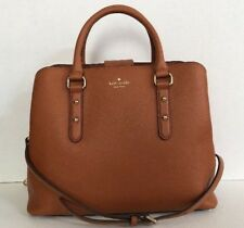 New Kate Spade Evangelie Larchmont Avenue Pebble Leather Warm Cognac