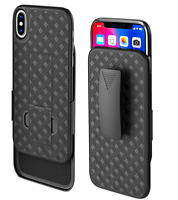 Holster Case for iPhone X/ Xs/ 10/ 10s Combo Case w/ Kickstand Swivel Belt Clip