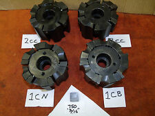"""Valenite 4"""" shell face mill 1.5"""" arbor 6 indexable 3/4"""" carbide inserts facemill"""