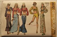 Vintage Pants Top Skirt Sewing Pattern*Simplicity 9412*Size 12*UNCUT/FF*retro