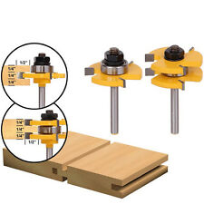 """2X HOT Woodworking Tool Durable Tongue & Groove Router Bit 3/4"""" Stock"""