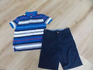 BOYS TOMMY HILFIGER POLO SHIRT SHORTS AGE 8 YEARS