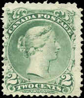 1868 Mint NG Canada F Scott #24 2c Large Queen Issue Stamp