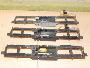 Athearn HO Parts Lot of 3 GP7/9 Diesel Locomotive Frames with Headlights