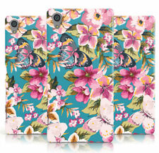 NEW FLORAL PINK TROPICAL BUTTERFLY PRINT AQUA PHONE CASE COVER FOR SONY XPERIA