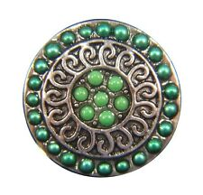Noosa Style Chunks Snap Button Charms Chunk Charm Snaps Beaded Green 18mm