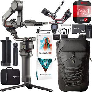 DJI RS 2 Gimbal Handheld 3-Axis Stabilizer for DSLR & Mirrorless Cameras Bundle