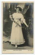 c 1905 Edwardian actress Pretty BILLIE BURKE glamour British photo postcard