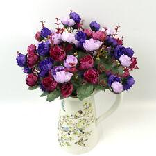 Artificial False Rose Silk Flowers 21 Head 1 Flower Head Floral Wedding Decor **