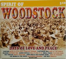 Spirit of Woodstock - Days of love and peace - 3 CD-Box mit 30 Songs von 1999