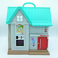 Fisher Price Little People Big Helpers Talking Play House Blue Works Fold out