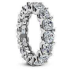 1.42 CT ROUND CUT NATURAL DIAMOND ETERNITY ANNIVERSARY RING D/SI1 14K WHITE GOLD