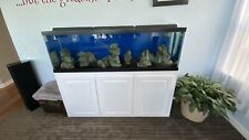 125 Gallon Fish Tank with Custom Stand and Filtration.