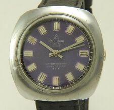 BOURBON 23rd STREET Super Deluxe Viola Dial Manual Wind Gents Watch 2fix (t37)