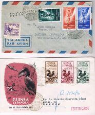 Guinea. Dos sobres circulados por correo certificado con series de Guinea
