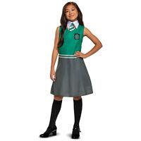 Girls Harry Potter Slytherin House Uniform Halloween Costume Dress Child S M L