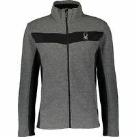SPYDER Men's Grey Racer Sweater Fleece Jacket  Sz: XL , rrp; $129, new