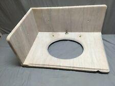 Antique Left Corner 20x30 Tennessee Rose Marble Bathroom Sink Old Vtg 309-19E