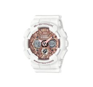 G-Shock White & Rose Gold S Series Shock Resist Watch GMAS120MF-7A2