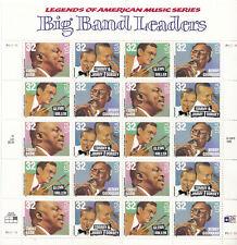 SCOTT #3096-99  SOUVENIR SHEET BIG  BAND  LEADERS  32 CENT    MNH