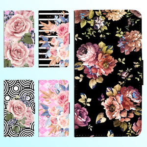 For Galaxy S21 S10 Plus Ultra Note 20 10 Flip Wallet Case Flower Floral II Cover