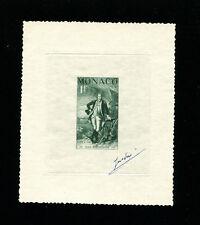 Monaco 1956 George Washington Scott 354 Signed Sunken Die Artist Proof/Essay