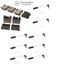 For Mercedes W140 300SD 400SEL Front & Rear Brake Pad Sets w/ Sensors Genuine