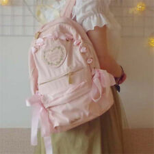Cute Lolita Schoolbag Bookbag Girl Riband Shoulders Bag Pink Kawaii Backpack Hot