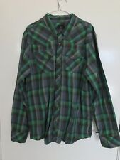 Country and Western Style Mens Checked Casual Shirt (with press studs) Size  XL