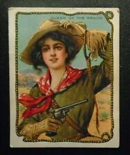 New listing old Queen of the Ranch trade card advertising Hassan Tobacco