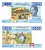 UNC GABON 1000 Central African Francs (2002) P-407A