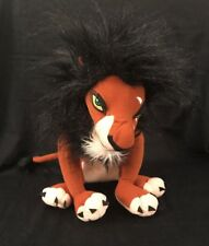 RARE Scar From Disney's The Lion King Villain Plush Stuffed Animal Unknown Maker