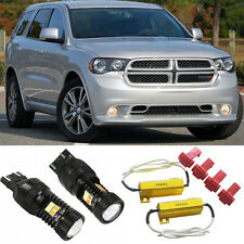 Bright Switchback Front DRL Parking Signal LED + Resistors for 2011-2013 Durango