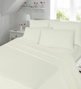 100% Brushed Cotton Thermal Flannelette Fitted Sheet or Flat Sheet orPillow Pair