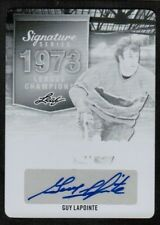 2015-16 Leaf Signature Champions Printing Plate Guy Lapointe Auto 1/1 (ref 7764)