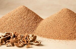 CRUSHED WALNUT SHELLS ~ FOUR GRADES AVAILABLE ~ 250 GRAMS TO 1.5 KILOS ~ABRASIVE