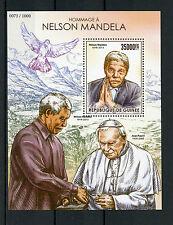 Guinea 2015 MNH Nelson Mandela Tribute 1v S/S Pope John Paul II Popes