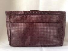 Muji Handbag Bag Purse Organizer with Removable Pocket Bag Brown Dot