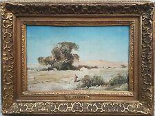 Aquarelle signée Victor HUGUET Paysage orientaliste Sahara français  1859