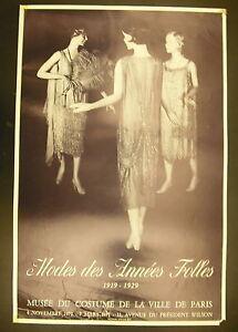 Affiche exposition Mode des années folles musée du cotume